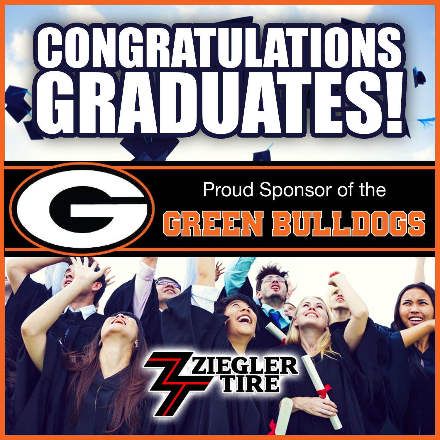 Green Bulldogs Graduation